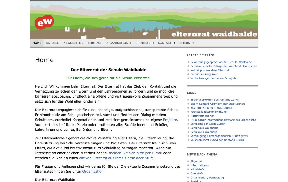 Die alte Elternrat-Website